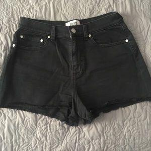 Black shorts with frayed hem!
